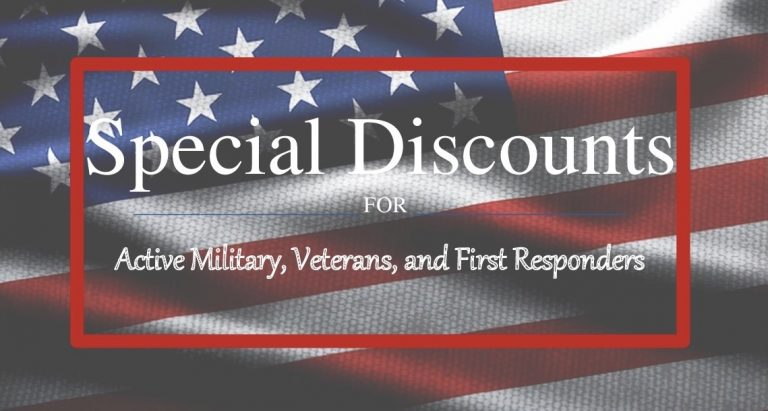 Special Discounts for Veterans